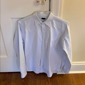J crew blue and white striped Oxford shirt
